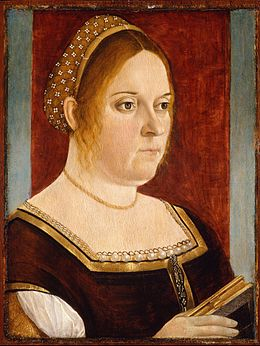 Vittore Carpaccio - Portrait of a Lady with a Book - Google Art Project.jpg