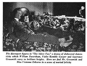 """Vivienne Osborne - With Lawrence Grossmith in """"The Silver Fox"""" - Arts and Decoration Magazine 1921"""