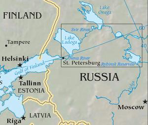 Volga–Baltic Waterway - Map of the Volga–Baltic Waterway