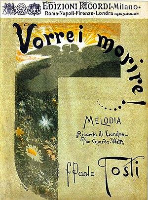 Francesco Paolo Michetti - Libretto Cover for Opera by Paolo Tosti