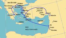 Viajes misioneros de pablo wikipedia la enciclopedia libre for Cuarto viaje de san pablo