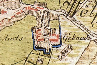 County of Wölpe - Location of Wölpe Castle, later designated as a district office or Amt, in Erichshagen in 1778
