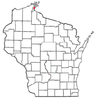Location of La Pointe, Wisconsin