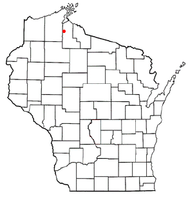 Location of Sanborn, Wisconsin
