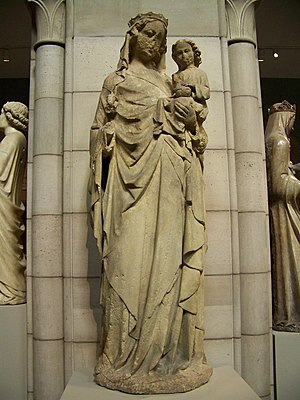 Alexander of Abingdon - The Virgin and Child, attributed to Alexander of Abingdon, in the Metropolitan Museum, New York.