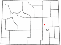 Location of Glenrock, Wyoming