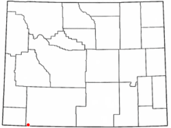 Location of McKinnon, Wyoming