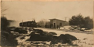 New York and New England Railroad - Wallum Lake station on the Providence and Springfield in 1909