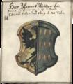 Wappen des Bürgermeisters Johann Ritter im Buch der lübecker Rathslinie 1612-1687.png