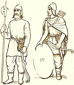 Armenian foot soldiers wearing the traditional Mithraic caps.