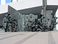 Warsaw monument to the heroes of the Warsaw Uprising.