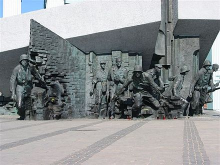 Monument to the resistance fighters who fought in the Warsaw Uprising. Warsaw wwII.jpg