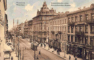Warsaw - Marszałkowska Street as it appeared in 1912
