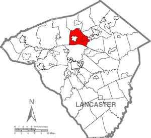 Warwick Township, Lancaster County, Pennsylvania - Image: Warwick Township, Lancaster County Highlighted