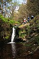 Waterfall and hikers - geograph.org.uk - 721474.jpg