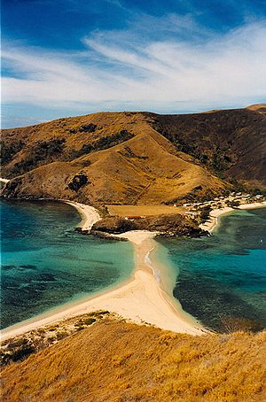 Yasawa Islands - Sandbar connecting the islands of Waya and Wayasewa