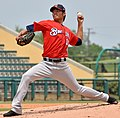 Wei-Chung Wang pitching for Brevard County Manatees in 2015 (Cropped).jpg
