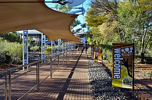 Alice Springs Airport - Walkway from the apron to the terminal