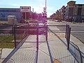 West at pedestrian crossing north of Murray North station, Aug 16.jpg