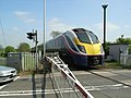 Westbound train at Blackminster Crossing - geograph.org.uk - 424083.jpg