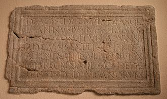Baden, Switzerland - A Latin inscription from Aquae Helveticae