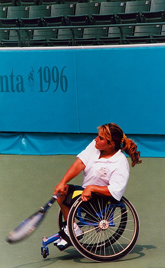 1996 Summer Paralympics - Image: Wheelchair tennis Atlanta Paralympics (14)