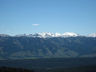 White Cloud Mountains - Image: White Clouds from Sawtooths