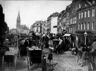Whitechapel - Whitechapel High Street in 1905