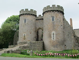 Whittington Castle - Gatehouse of Whittington Castle