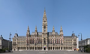 Rathaus, Vienna - View from Rathausplatz