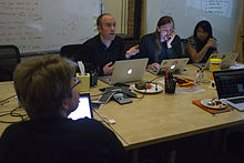 Wikimedia Foundation SOPA War Room Meeting 1-17-2012-1-6.jpg