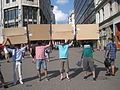 Wikimedians protesting in Budapest 3.JPG