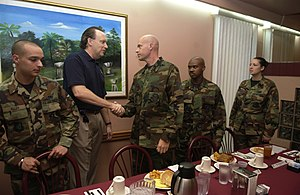 William C. Anderson (United States Air Force) - Anderson meets with airmen at Andersen Air Force Base, Jan. 20, 2007.