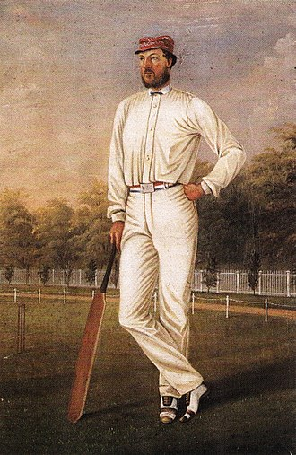 Origins of Australian rules football - Portrait of Wills in the colours of the Melbourne Cricket Club