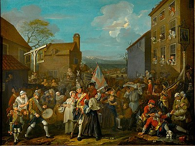 The March of the Guards to Finchley by William Hogarth; defending London during the 1745 Jacobite Rising William Hogarth 007.jpg