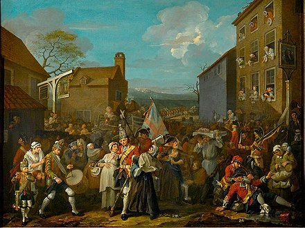 The March of the Guards to Finchley by William Hogarth; soldiers mustered to defend London against Jacobite forces William Hogarth 007.jpg