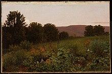 Уильям Трост Ричардс - Закат на лугу - 1996.194 - Museum of Fine Arts.jpg