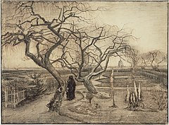 "Winter Garden (""Wintertuin""), pencil and ink drawing, March 1884, Van Gogh Museum, Amsterdam (F1128, JH466)"
