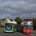 Wolvercote roundabout buses.jpg