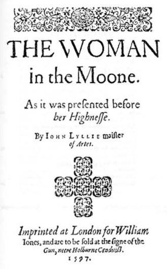John Lyly - Title page of The Woman in the Moon, 1597