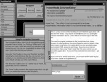 Screenshot of WorldWideWeb, the first web browser, under NeXTStep.