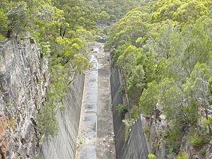 Woronora Dam - Image: Woronora Spillway
