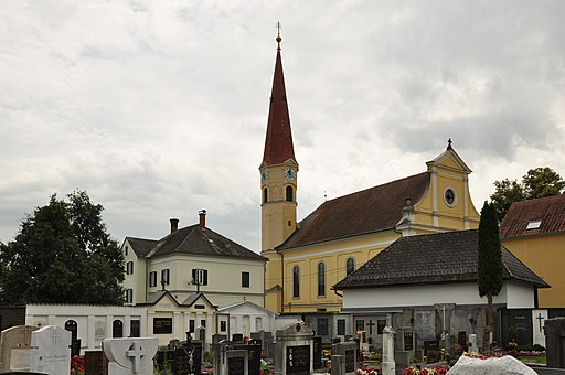Wundschuh Kirche Friedhof Pfarrhof