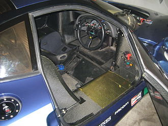 Jaguar XJR-15 - XJR-15 interior was functionally minimalist with little to hide its competition roots