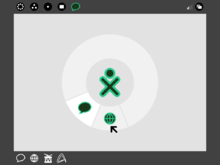 "XO laptop running GUI ""Sugar"" in ""home view"".png"