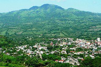 Santiago Tuxtla - City and surrounded farm/pasture land