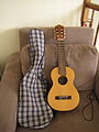 Yamaha Guitalele front & case (2007-01-07 by Andrew Plumb).jpg