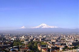 Vedua de Èrivan co'l Ararat so'l sfondro