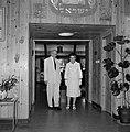 Yitzhak Ben Zvi, de tweede president van Israel van 1952 tot 1963 en zijn echtge, Bestanddeelnr 255-4230.jpg