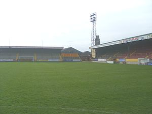 Lincolnshire derby - York Street, Home of Boston United since 1933.